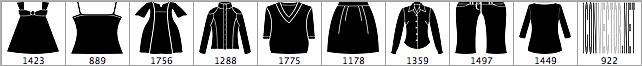 矢量女式服装PS笔刷素材