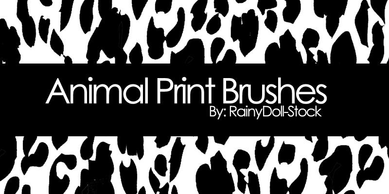 PS动物斑纹斑点效果笔刷