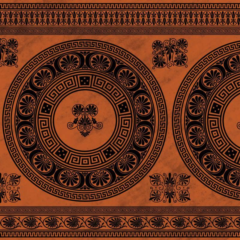 古希腊贵族式花纹笔刷