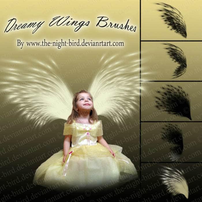 天使光芒翅膀笔刷