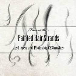CG式细腻头发发丝效果笔刷