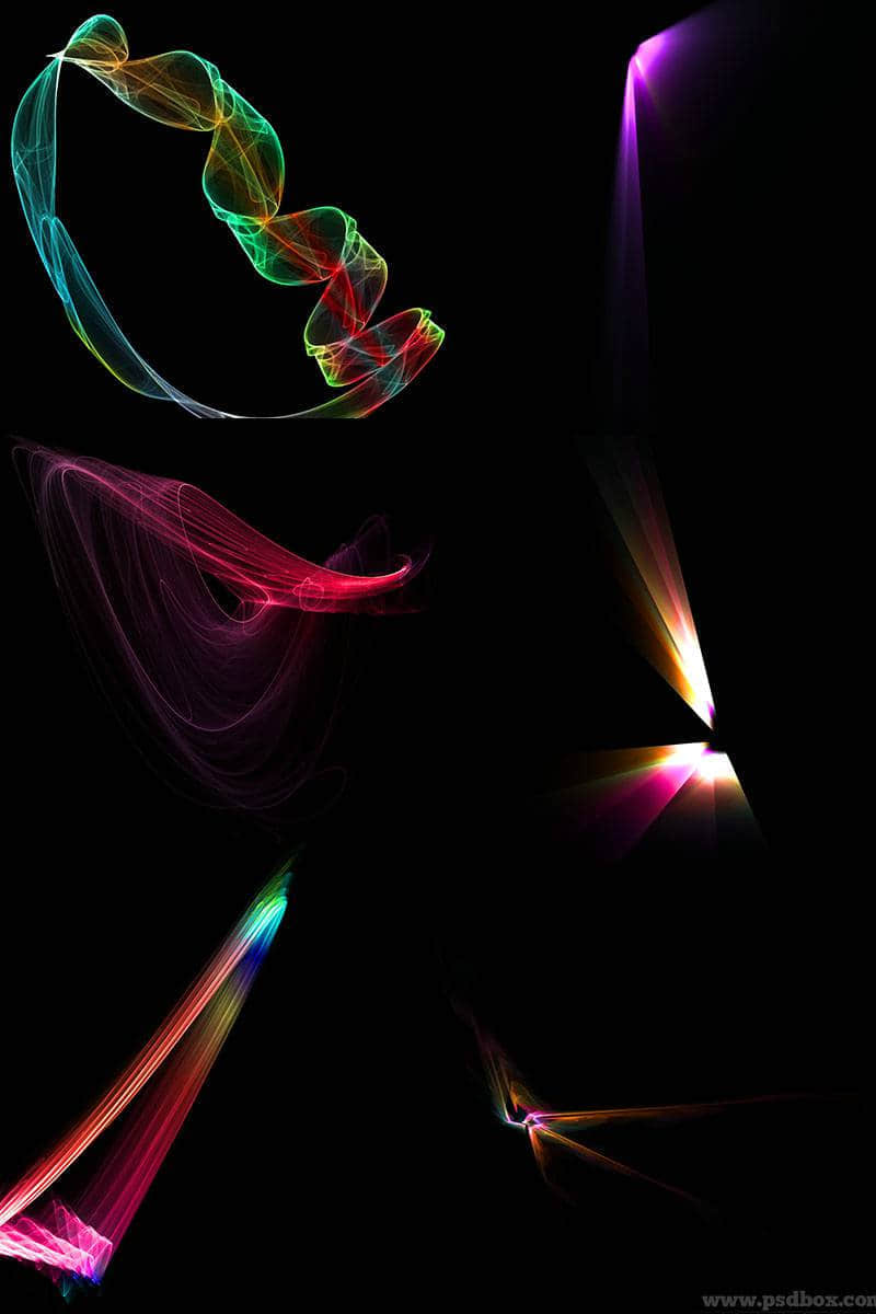 抽象光线效果PS笔刷下载