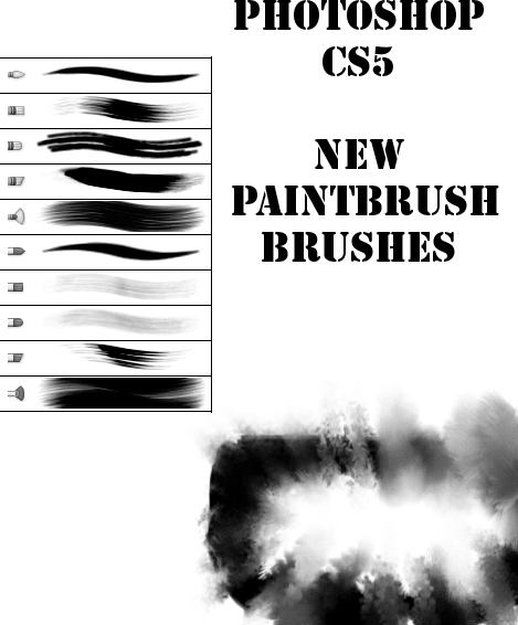 Photoshop CS5专用刷子材质笔刷下载