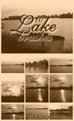 Photoshop湖泊大湖笔刷
