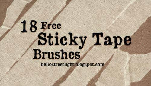 18种免费的胶布胶带PS笔刷素材