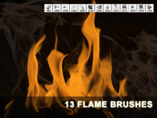 13种不同效果火焰火苗笔刷