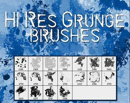 7个高清晰残旧的油漆污渍泼洒笔刷