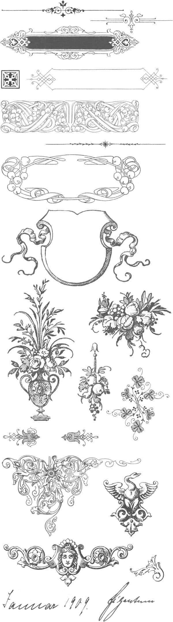 漂亮的PS古典贵族花纹笔刷