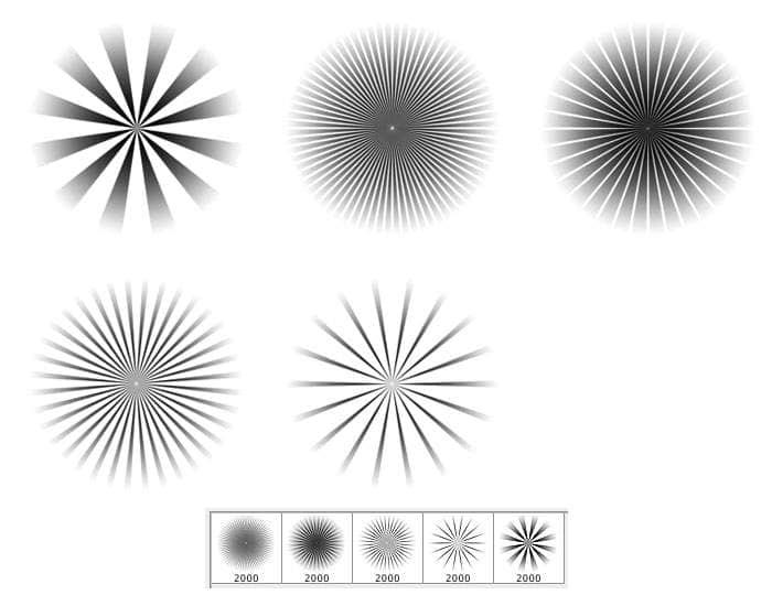 放射光线展示类PS笔刷