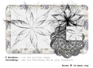 流烟式高光花纹抽象笔刷