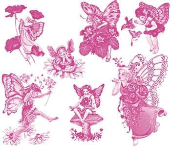 7个漂亮的蝴蝶仙女笔刷