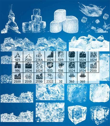 23种冰块结冰效果笔刷