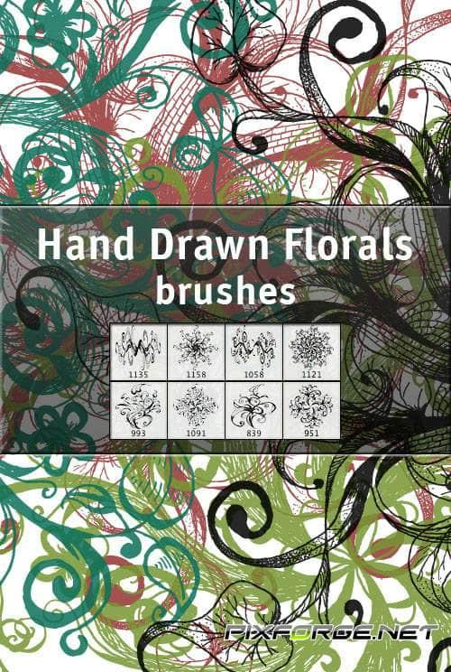 手绘式PS花纹装饰笔刷