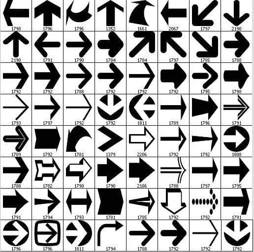 特色箭头符号PS笔刷下载