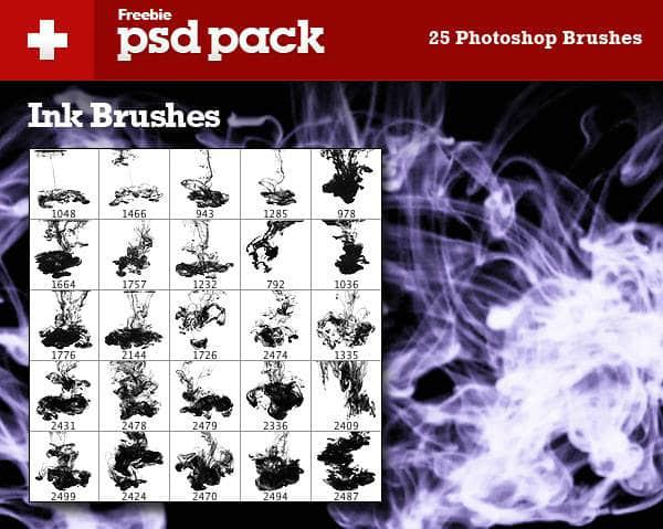 25种流烟烟雾效果笔刷 烟雾笔刷 火焰笔刷 流烟笔刷  flame brushes