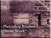 土木石头墙砖笔刷