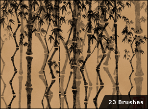 中国竹子笔刷