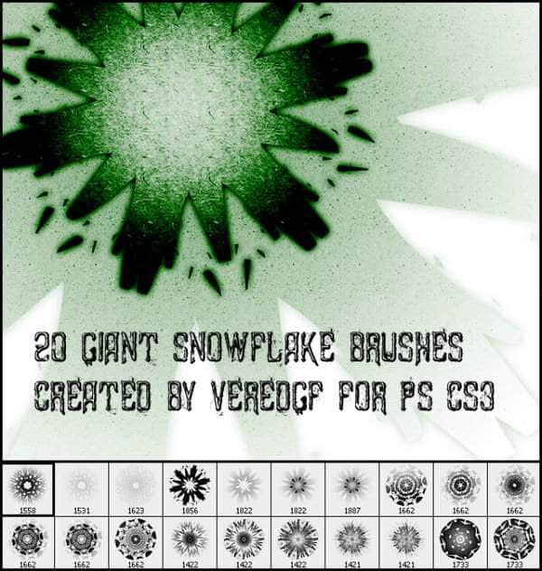 20款漂亮的矢量万花筒式花纹笔刷