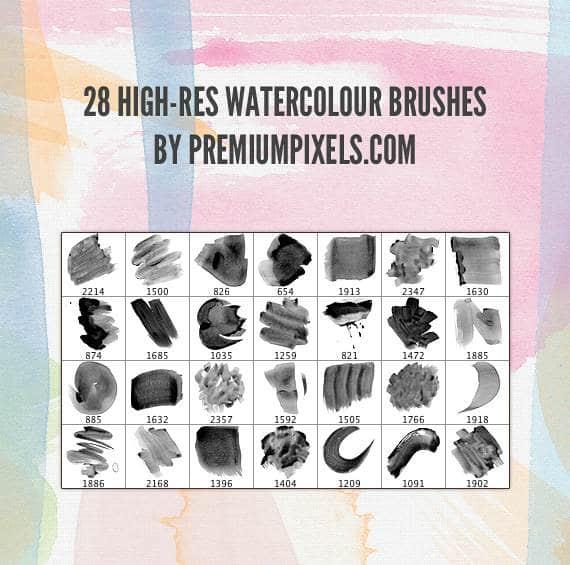 28种PS水彩画笔笔刷