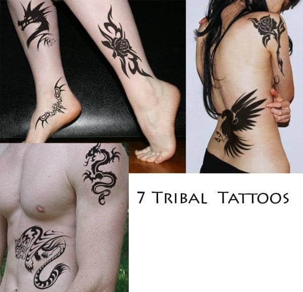 7款漂亮的酷炫纹身图案PS笔刷