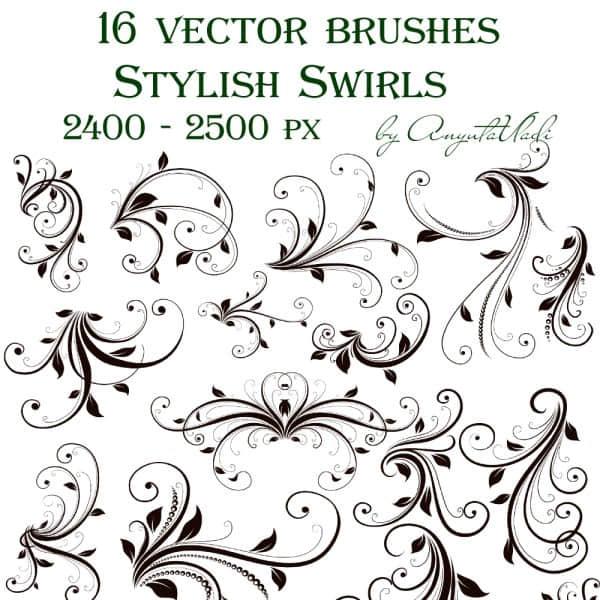 高清贵族式花纹印花装饰图案笔刷