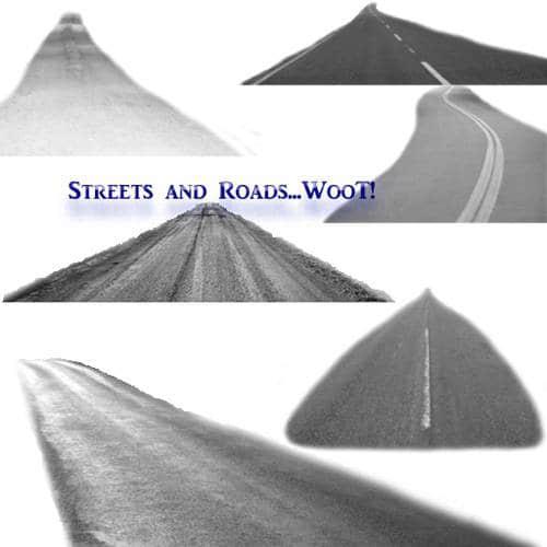 高速公路、汽车马路、柏油马路PS笔刷