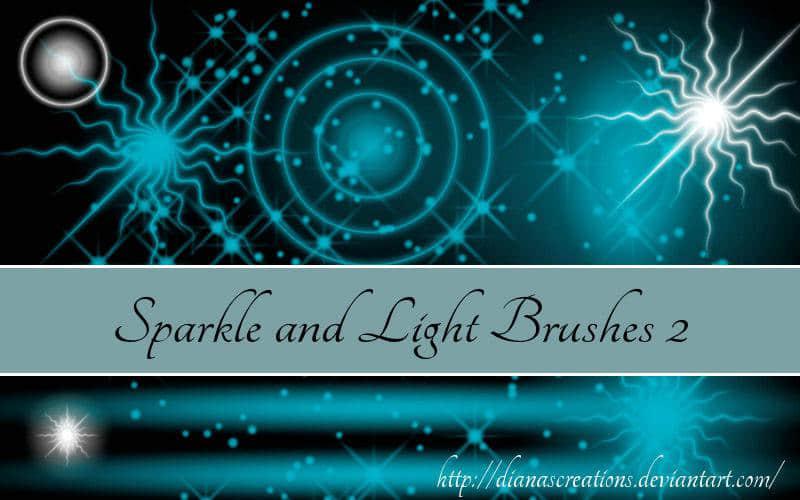 光线火花、星光、电光高光类PS笔刷
