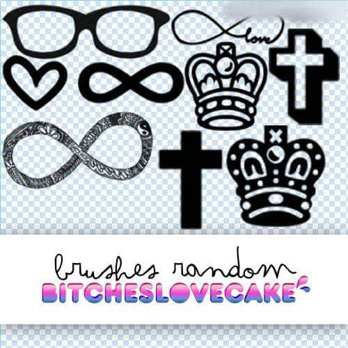 PS照片美化装饰素材眼镜、皇冠、十字架笔刷