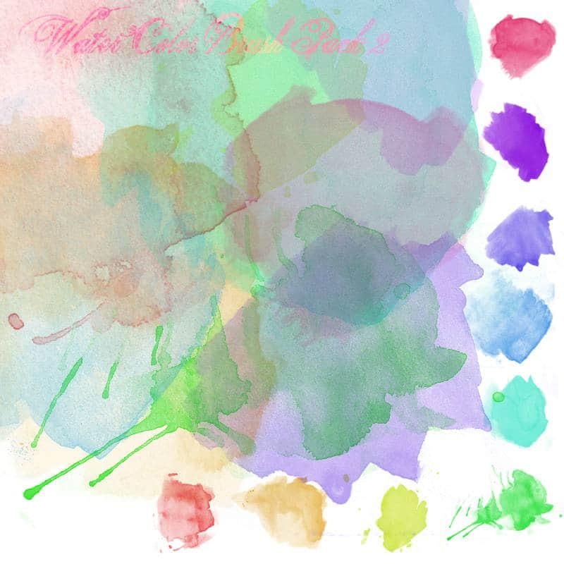 高品质水彩水墨画笔PS笔刷下载 #.2