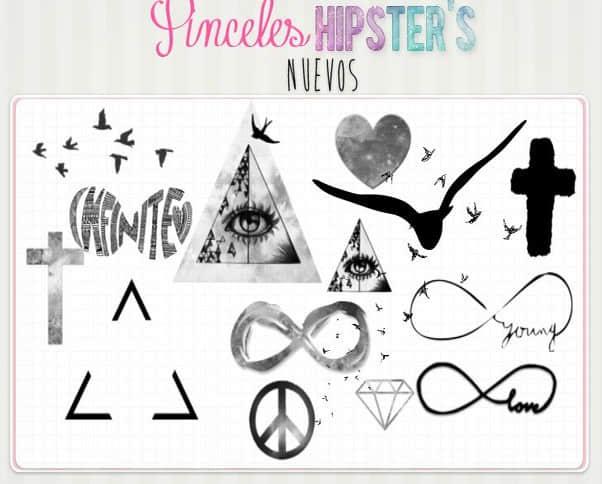 神秘三角、十字等照片装饰PS笔刷