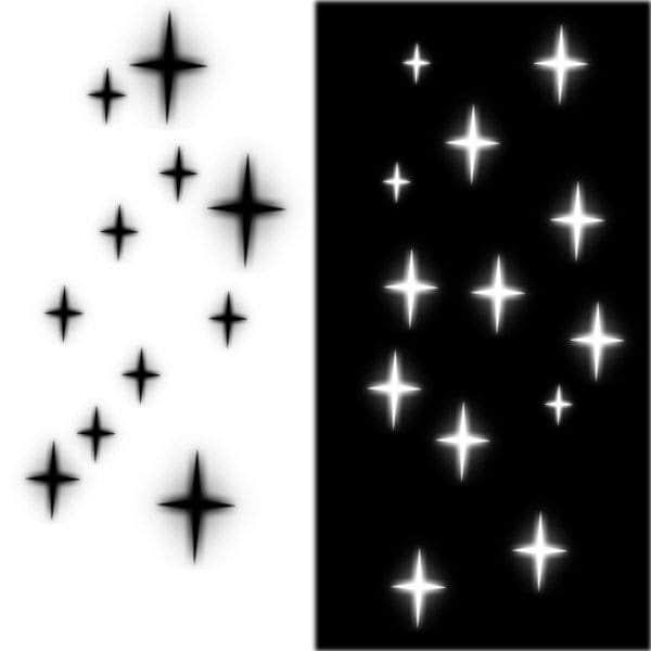 十字星、四角星型闪烁背景PS笔刷下载
