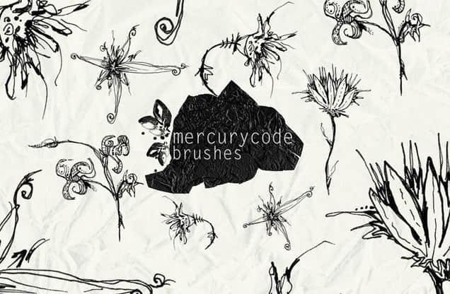 超美的花纹藤蔓装饰PS笔刷 #.2