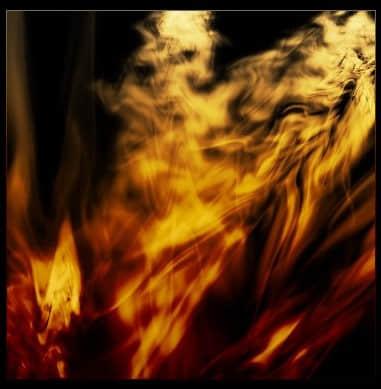 绚丽燃烧的CG式火焰效果笔刷