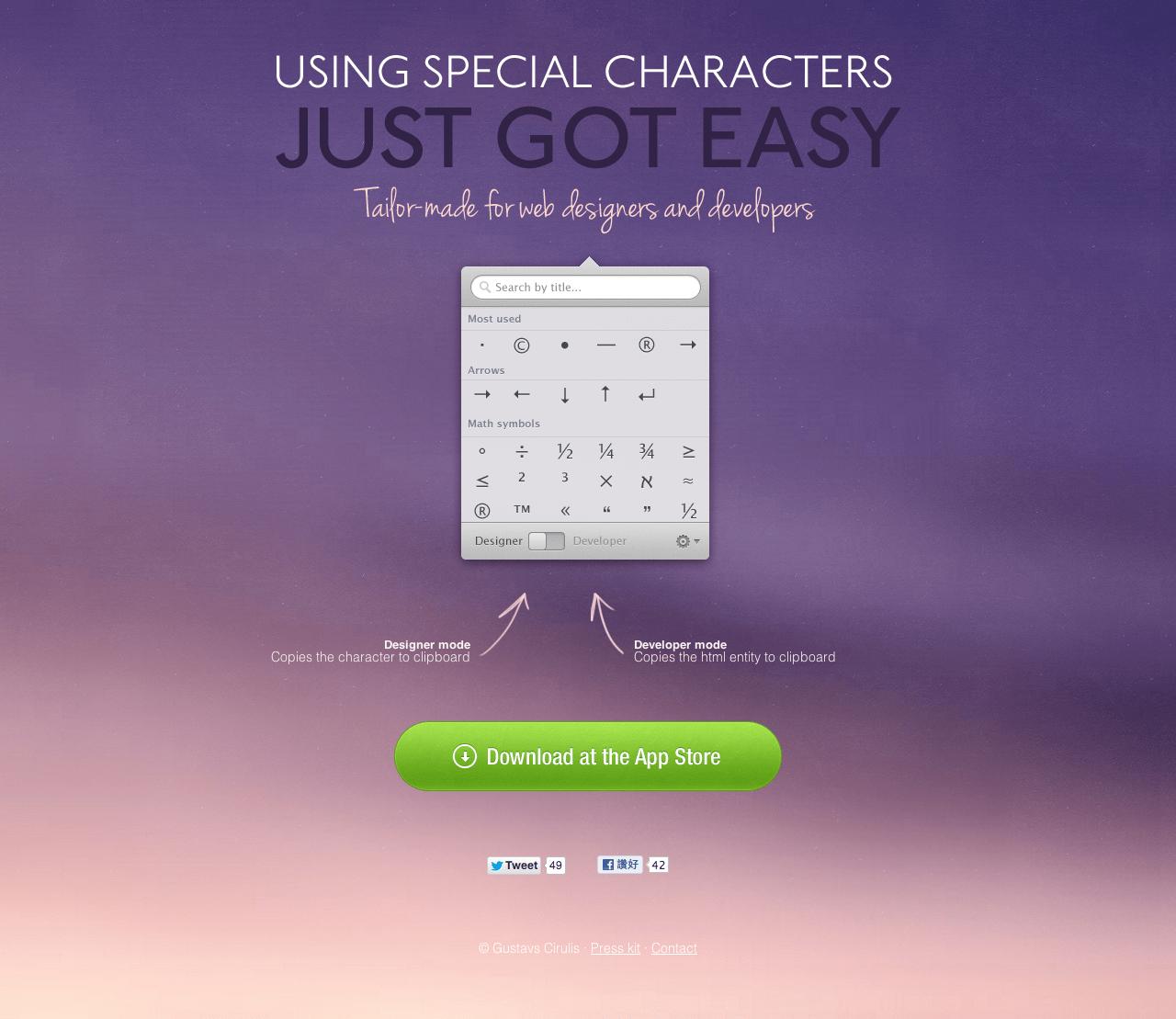 Characters-mac-app