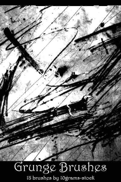 油漆划痕垃圾纹理PS笔刷