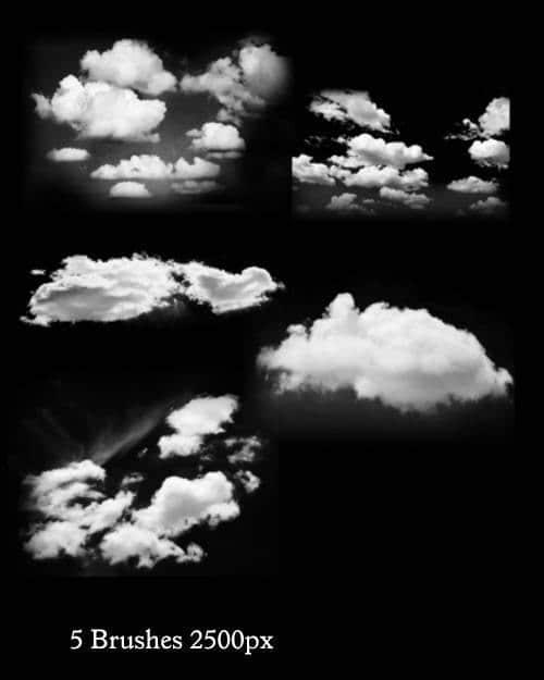 天空真实的朵朵白云PS笔刷