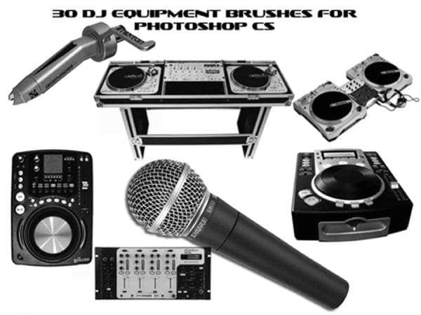 30个DJ音乐元素设备PS笔刷下载