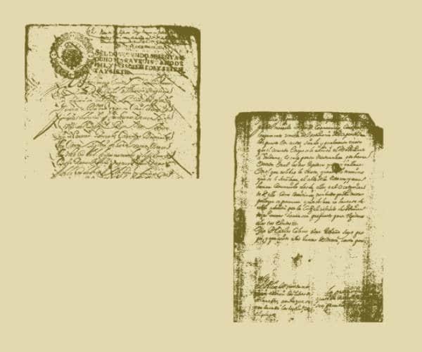 欧洲中世纪英文文字背景PS笔刷