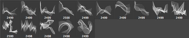 15种超炫超酷梦幻曲线背景装饰PS笔刷