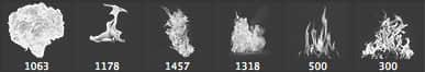 6种熊熊火焰燃烧效果PS笔刷下载