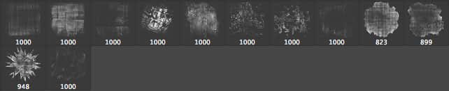 Photoshop背景装饰纹理效果笔刷