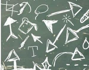 手绘卡通可爱箭头标记PS笔刷