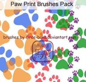 狗狗动物脚印PS笔刷