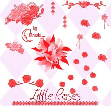 玫瑰花花朵PS笔刷