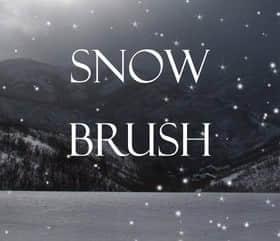 仿真式雪花、雪点、下雪效果笔刷