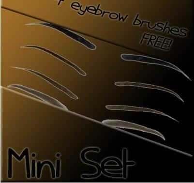 4种化妆眉毛PS笔刷