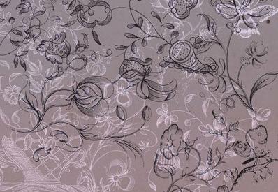 手绘花朵藤叶植物花纹PS笔刷