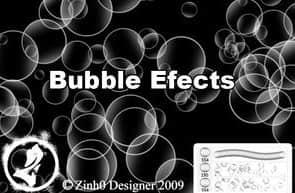 梦幻泡泡透明效果的气泡笔刷