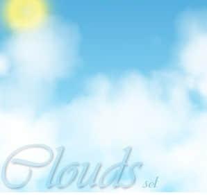 云雾水汽状白云、太阳PS笔刷