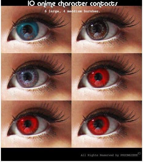 美丽瞳孔、美瞳非主流装扮PS笔刷